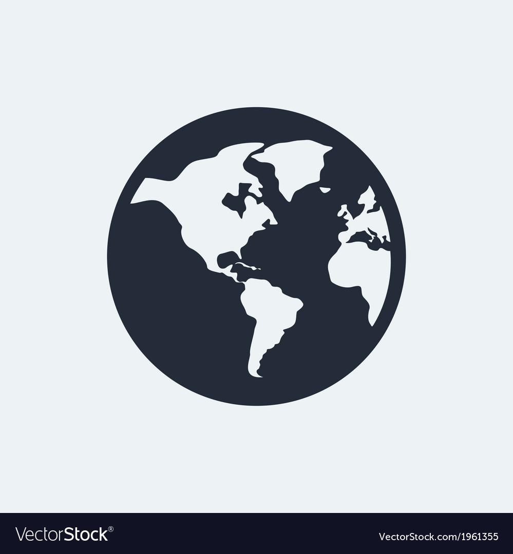 Globe flat icon vector | Price: 1 Credit (USD $1)