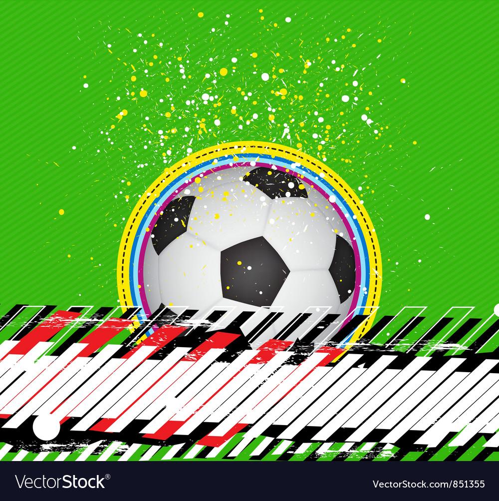 Grunge design soccer background vector | Price: 1 Credit (USD $1)