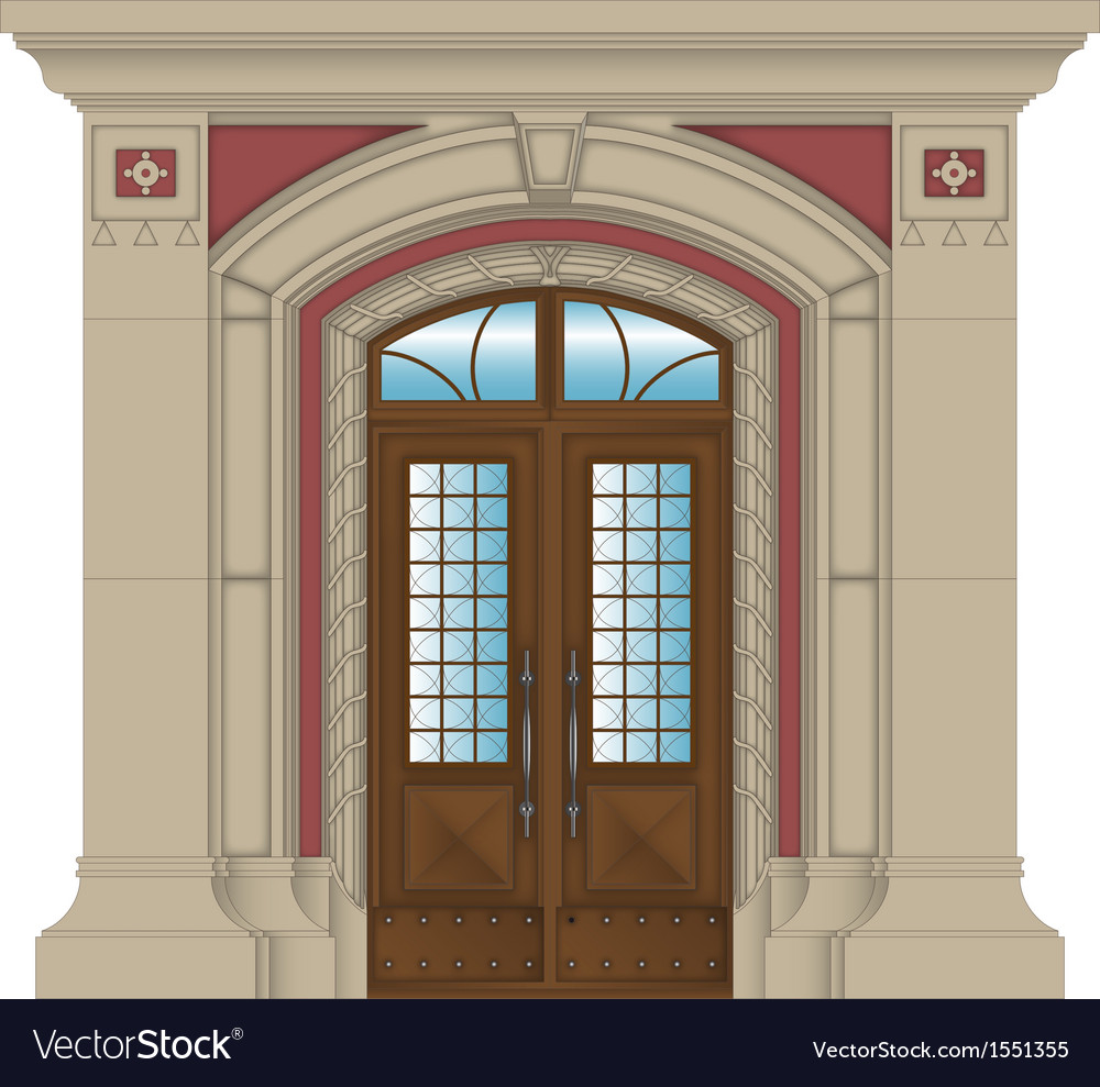 Image stone entrance of house vector | Price: 1 Credit (USD $1)