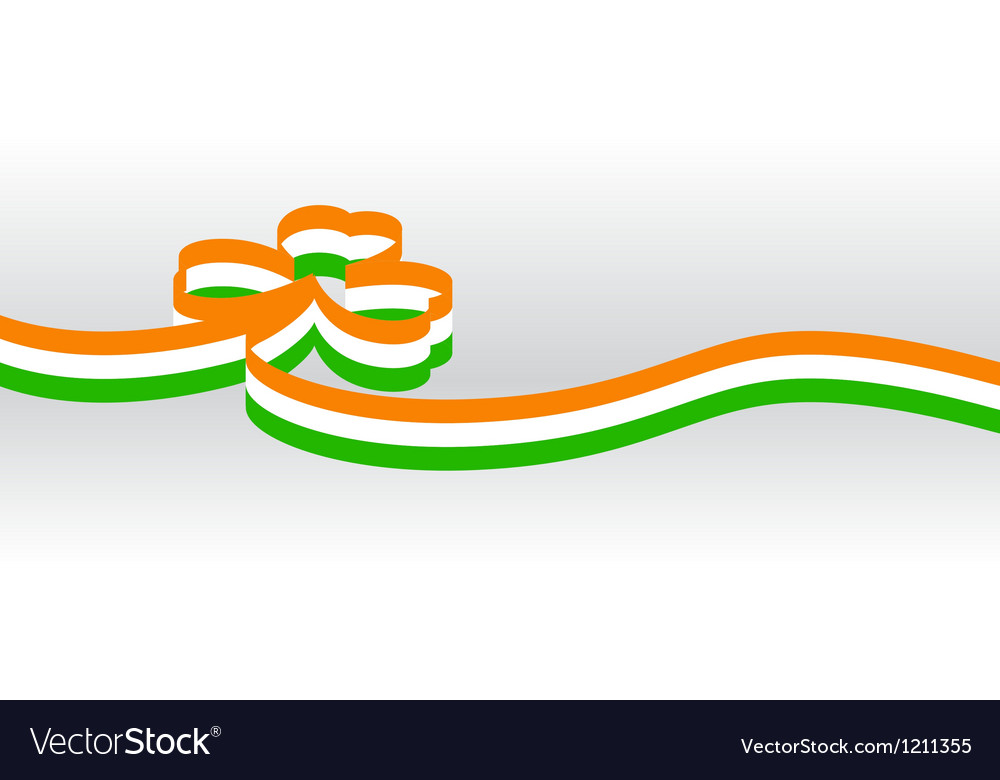 Irish ribbon vector | Price: 1 Credit (USD $1)