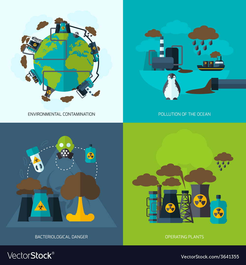 Pollution icon flat vector | Price: 1 Credit (USD $1)