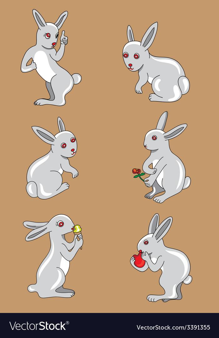 Rabbit set vector | Price: 1 Credit (USD $1)