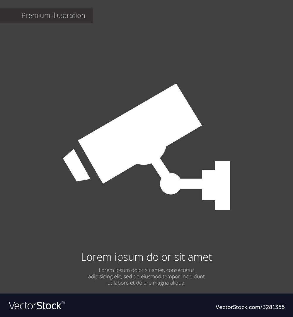 Security camera premium icon white on dark backgro vector | Price: 1 Credit (USD $1)