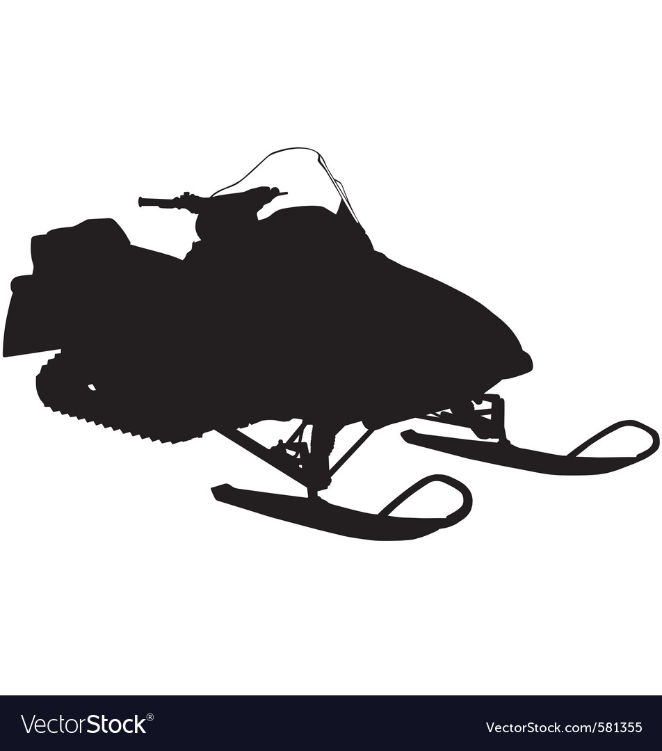 Snowmobile silhouette vector | Price: 1 Credit (USD $1)