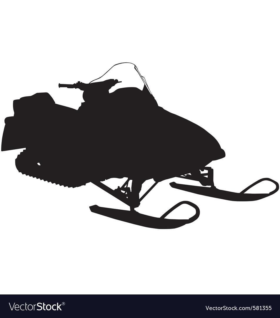 Snowmobile silhouette vector | Price: 1 Credit (USD $1)