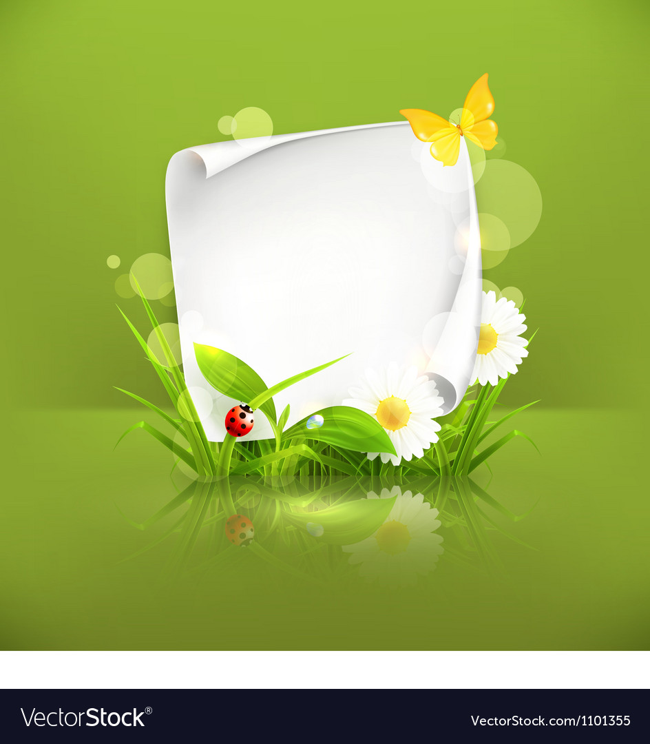 Spring frame green vector | Price: 1 Credit (USD $1)