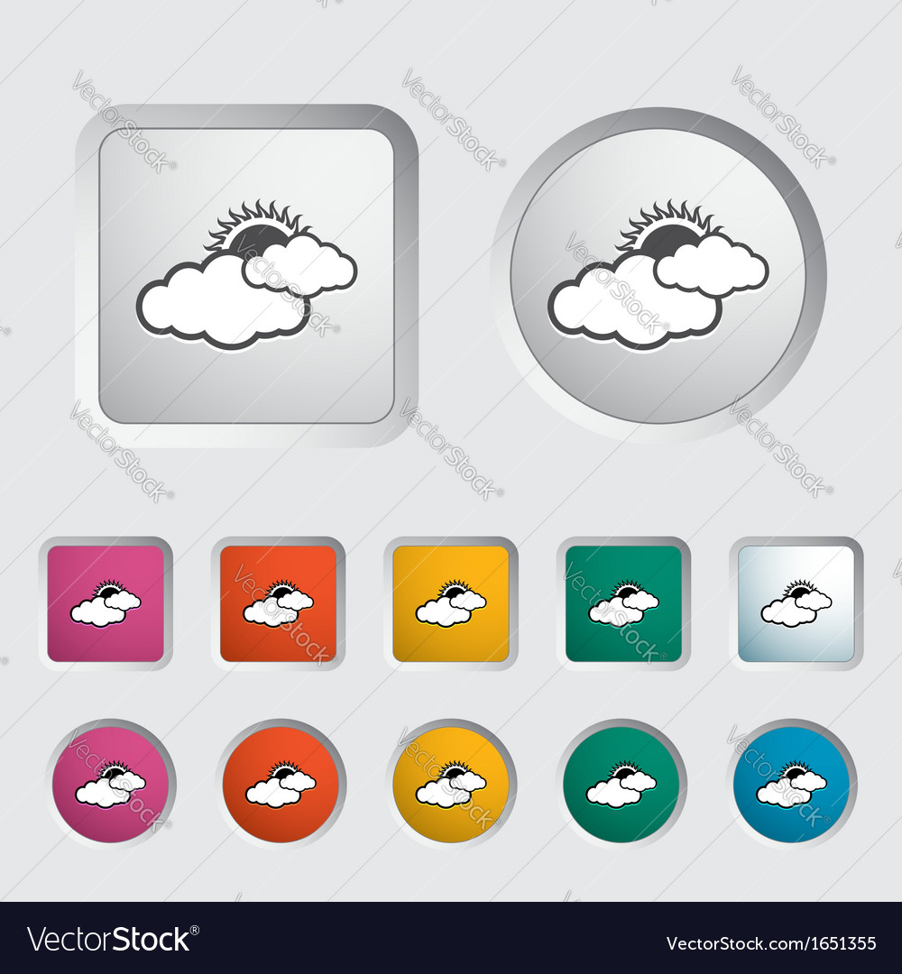 Weather icon sun and cloud vector | Price: 1 Credit (USD $1)