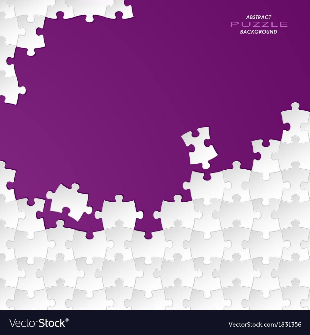 Abstract white group puzzle with violet background vector | Price: 1 Credit (USD $1)