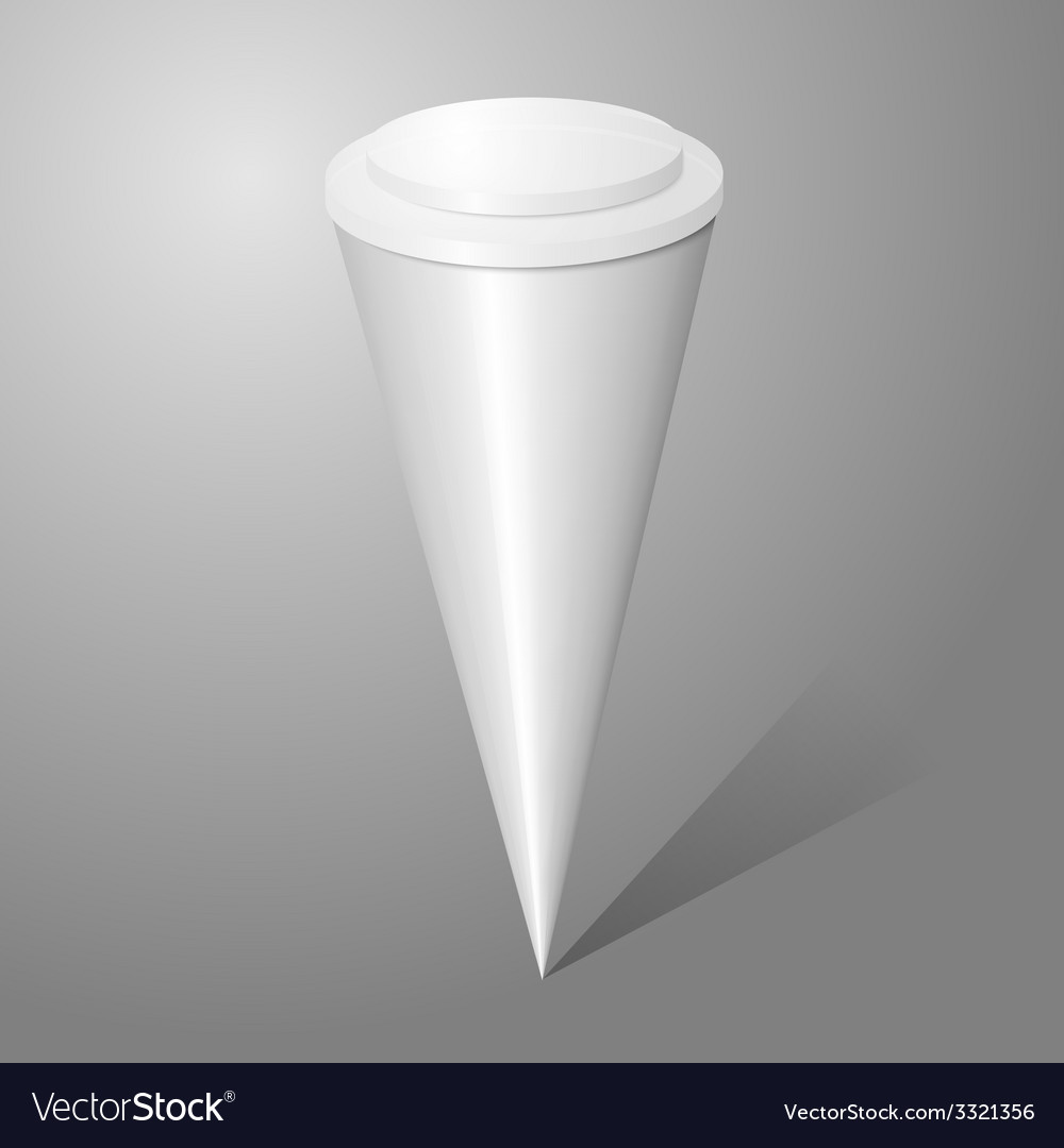 Blank ice cream cone package isolated on gray vector | Price: 1 Credit (USD $1)