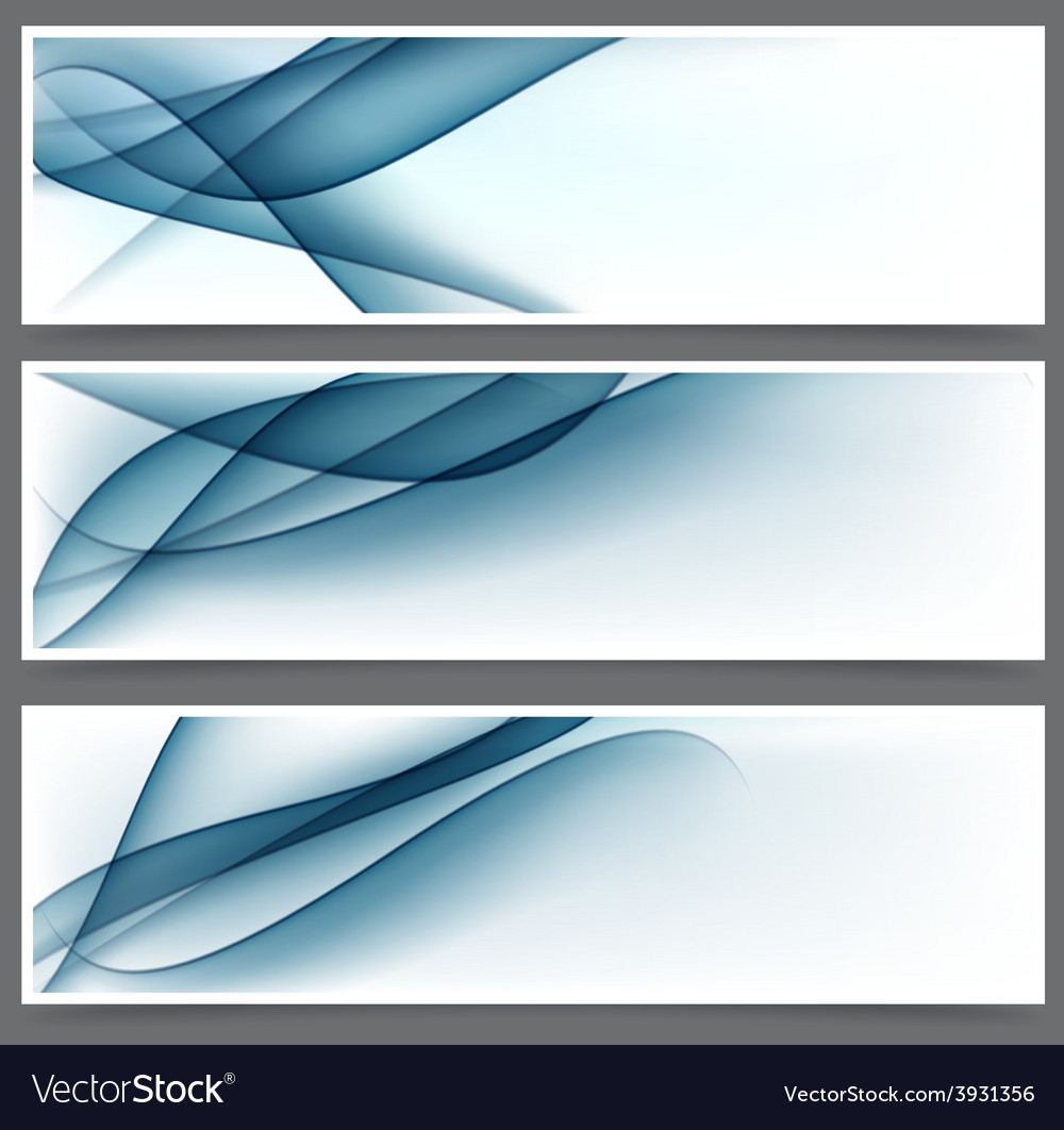 Blue abstract banners vector | Price: 1 Credit (USD $1)
