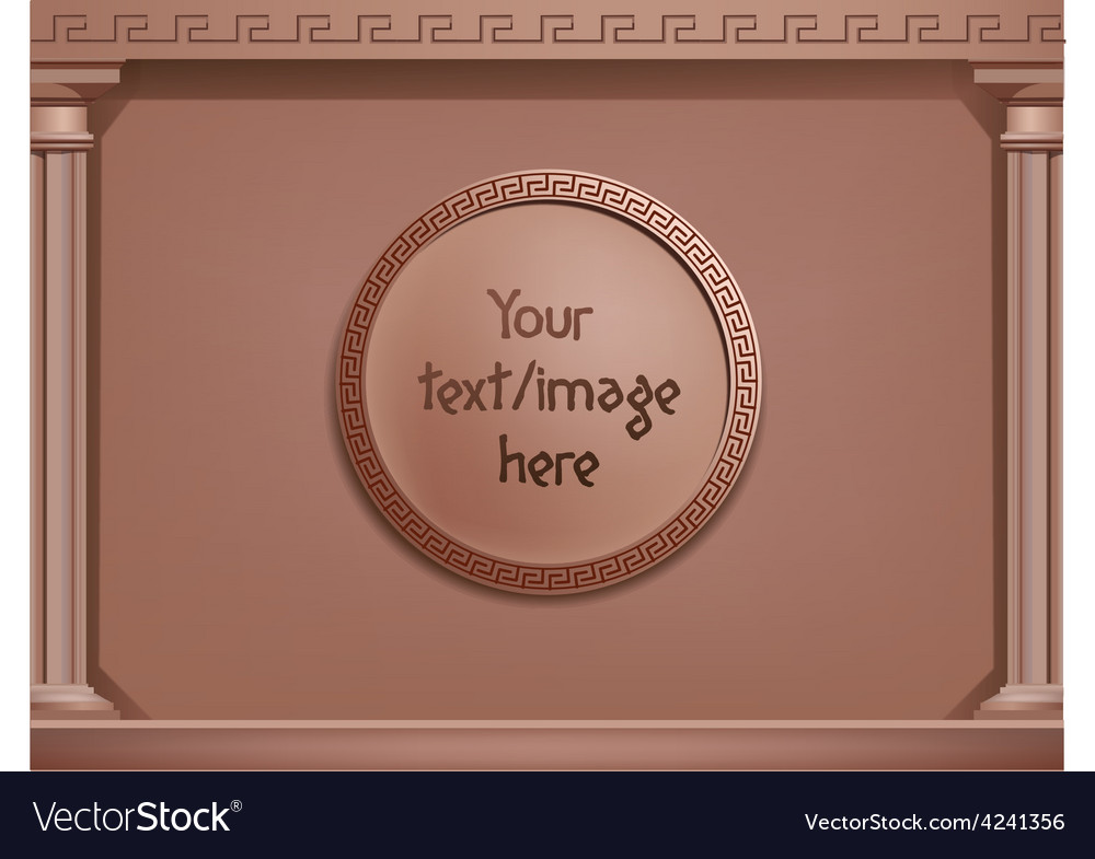 Brown greek style background concept you vector | Price: 1 Credit (USD $1)