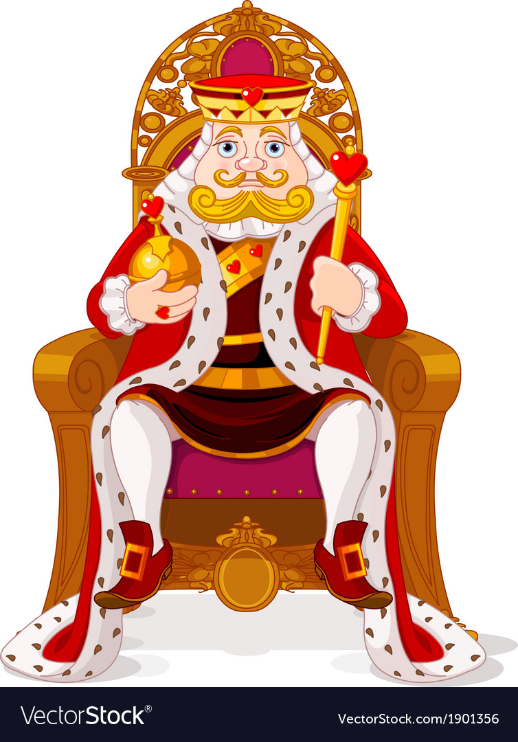 King on the throne vector | Price: 3 Credit (USD $3)