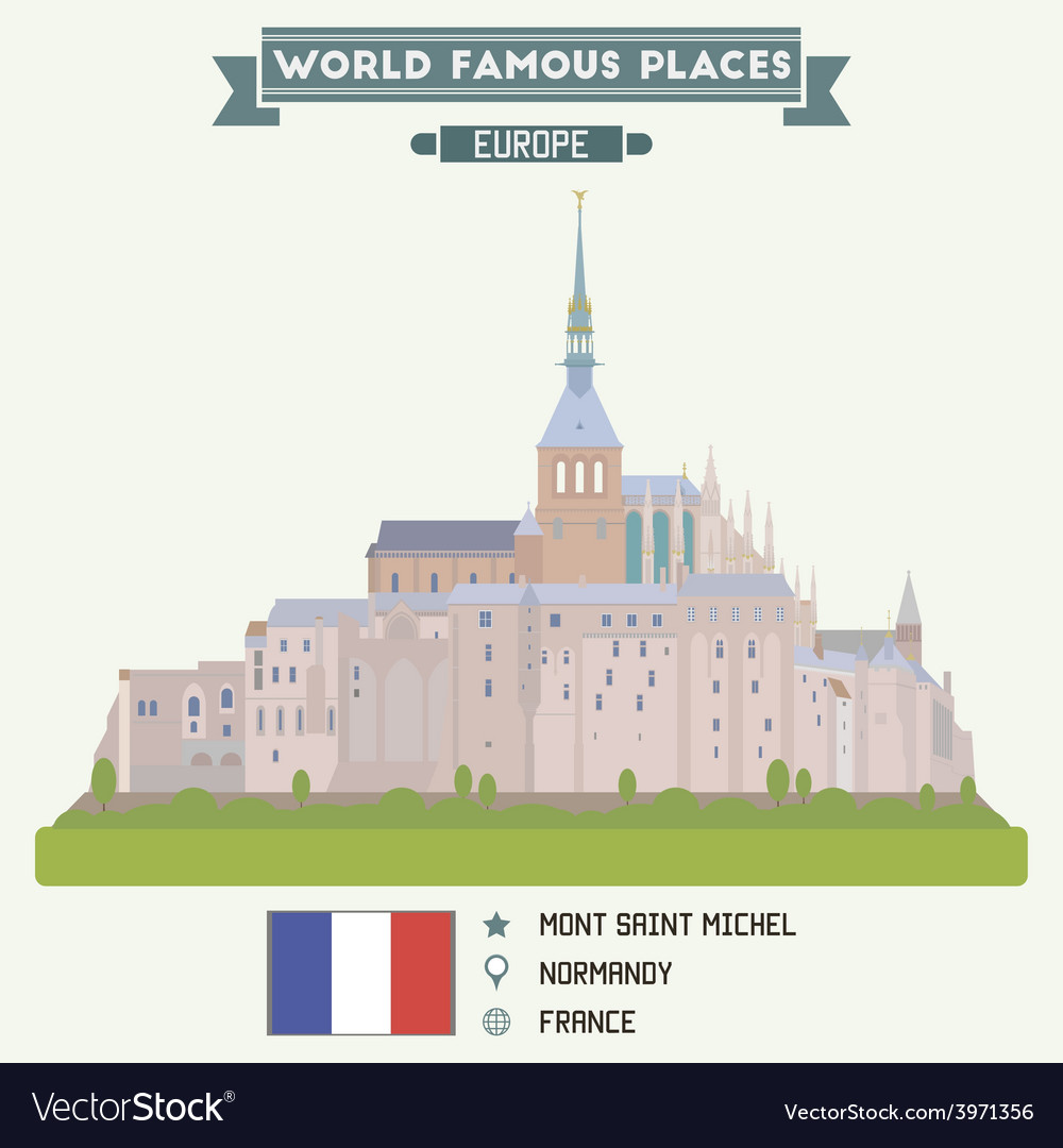 Mont saint michel vector | Price: 1 Credit (USD $1)
