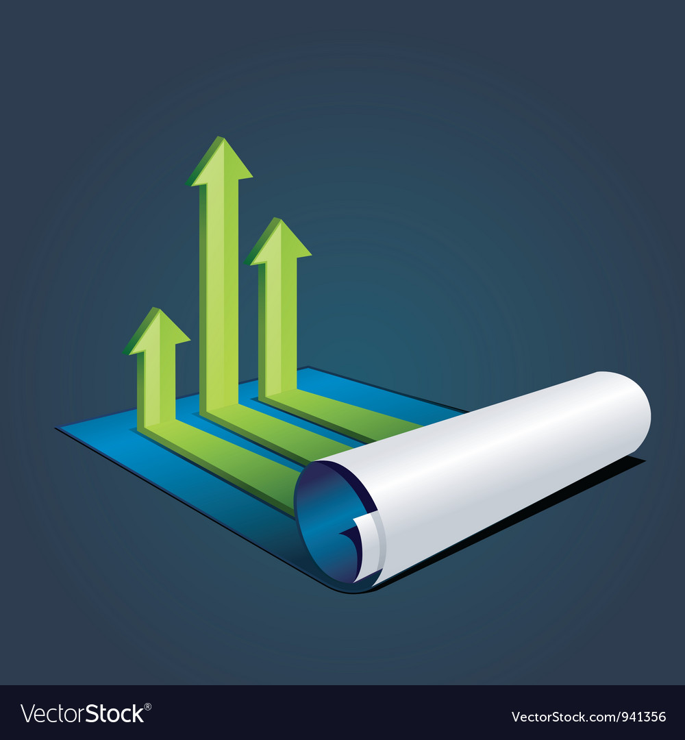 Roll of blue paper with graph or diagram vector | Price: 3 Credit (USD $3)