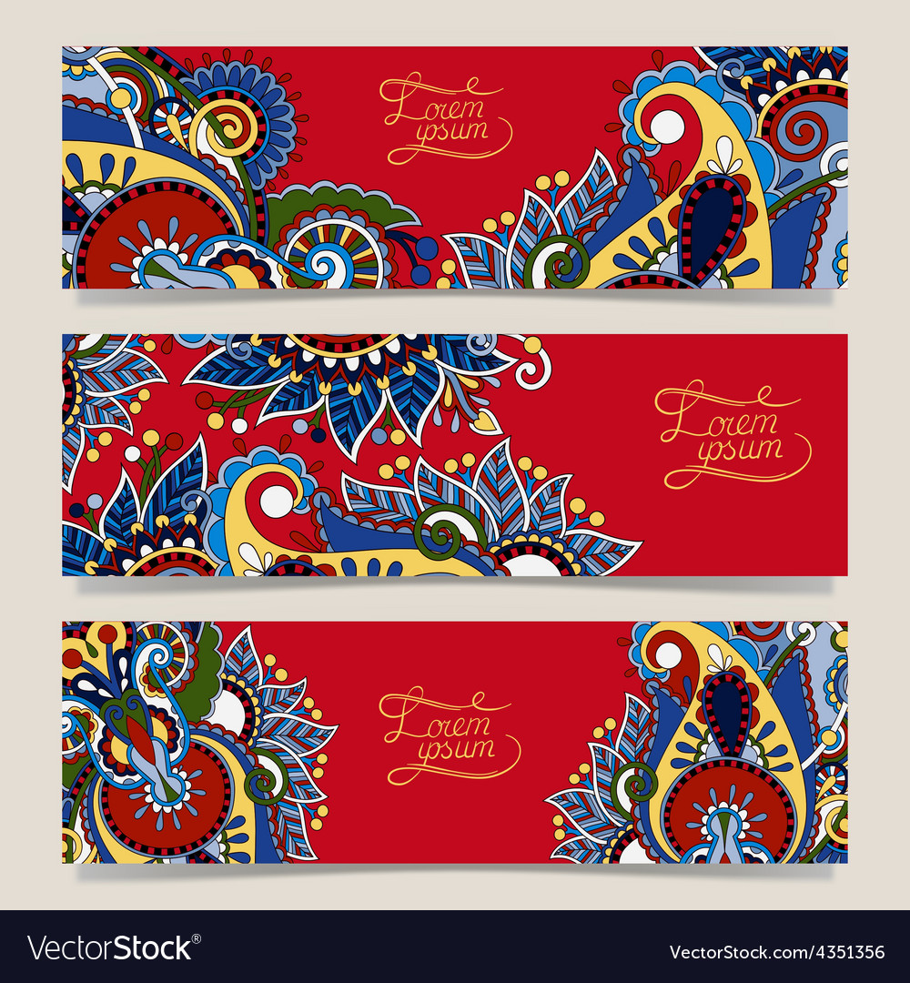 Set of three red horizontal banners with vector   Price: 1 Credit (USD $1)