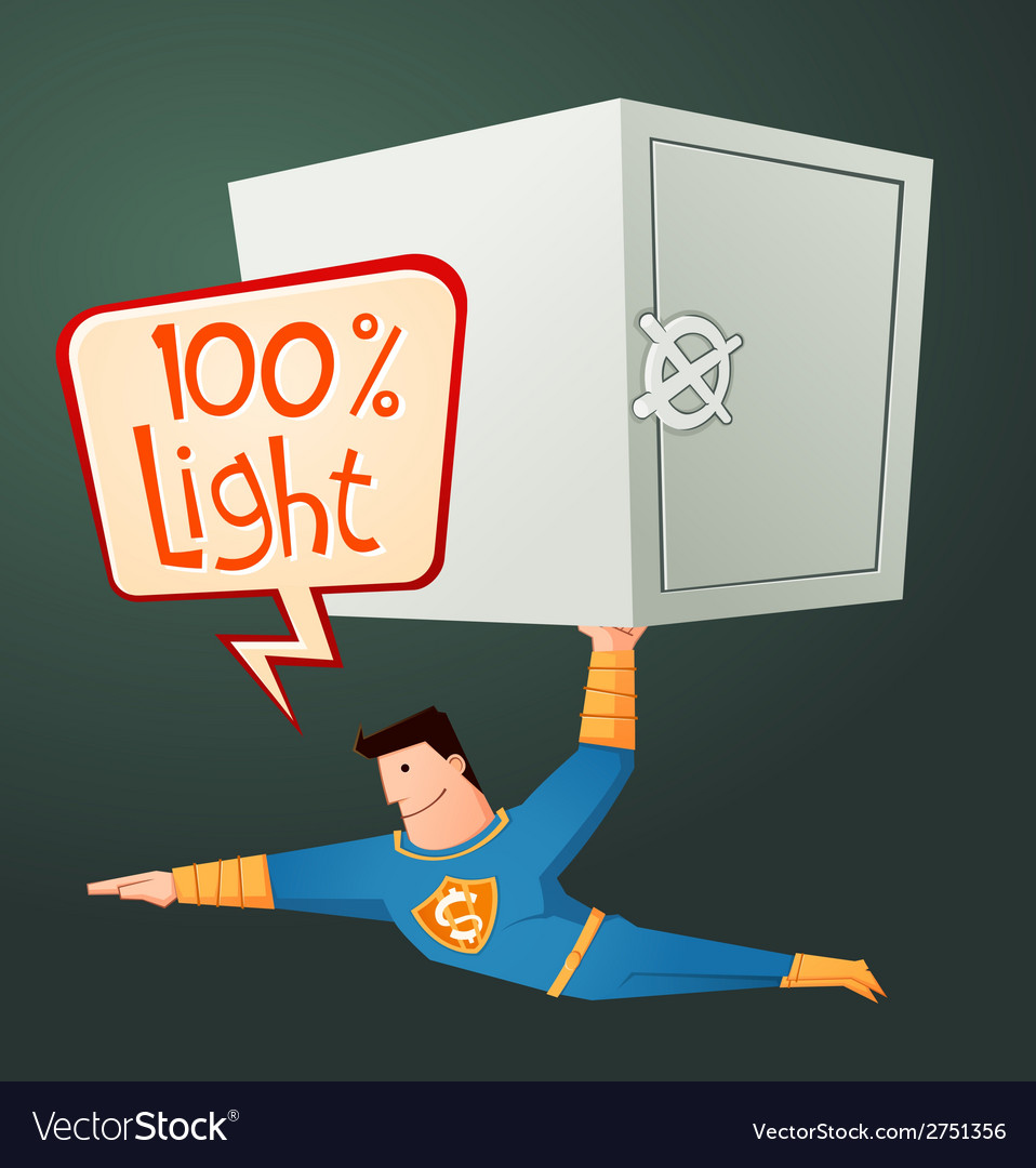 Superhero carry a deposit box vector | Price: 1 Credit (USD $1)