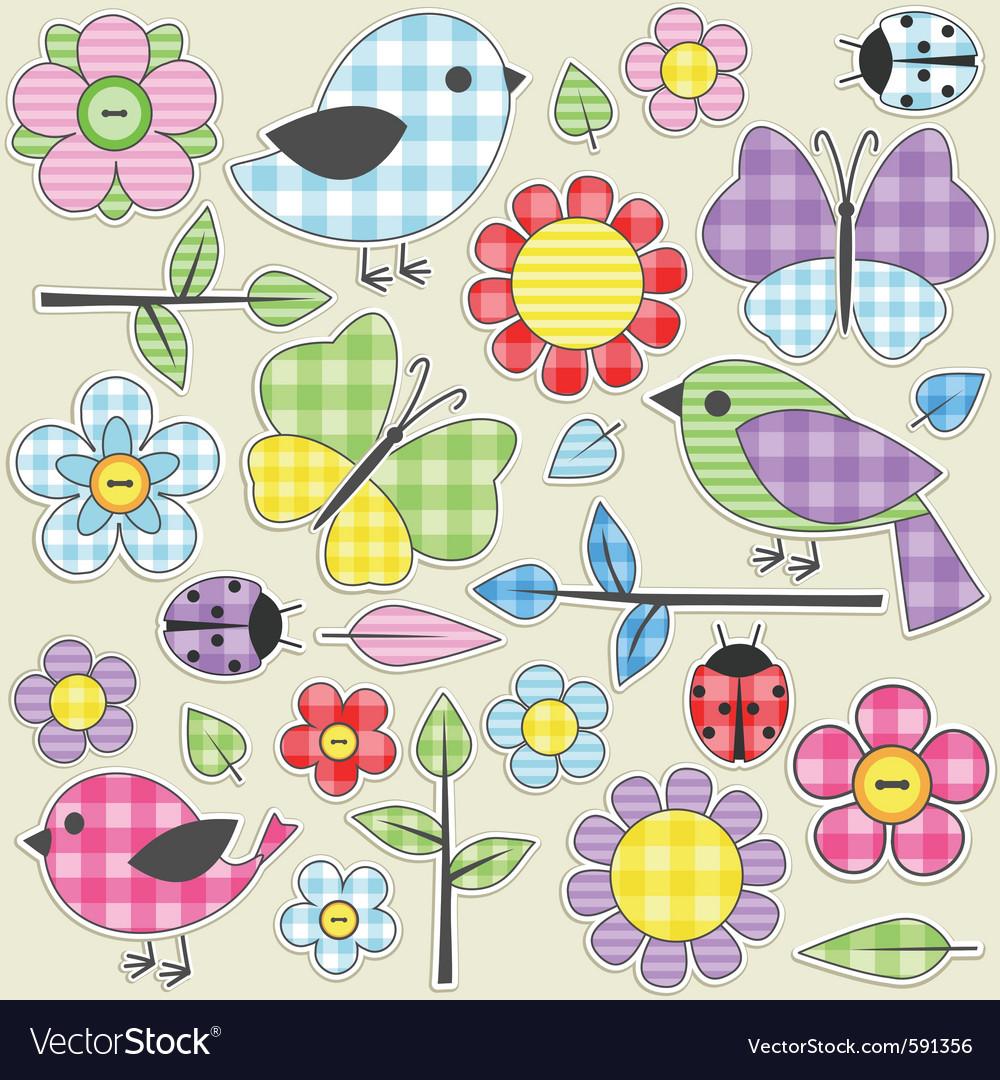 Textile stickers vector | Price: 3 Credit (USD $3)