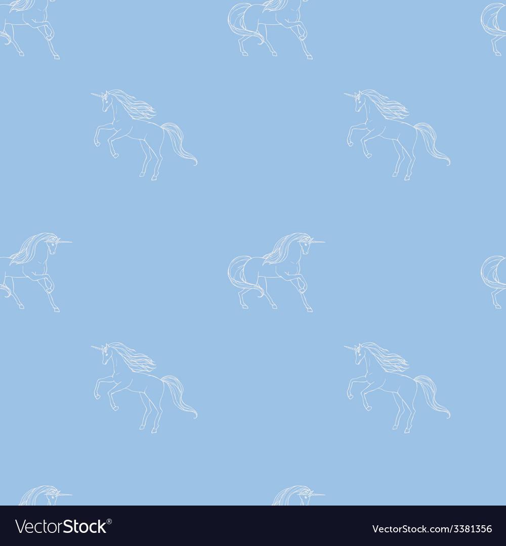 Unicorn seamless vector | Price: 1 Credit (USD $1)