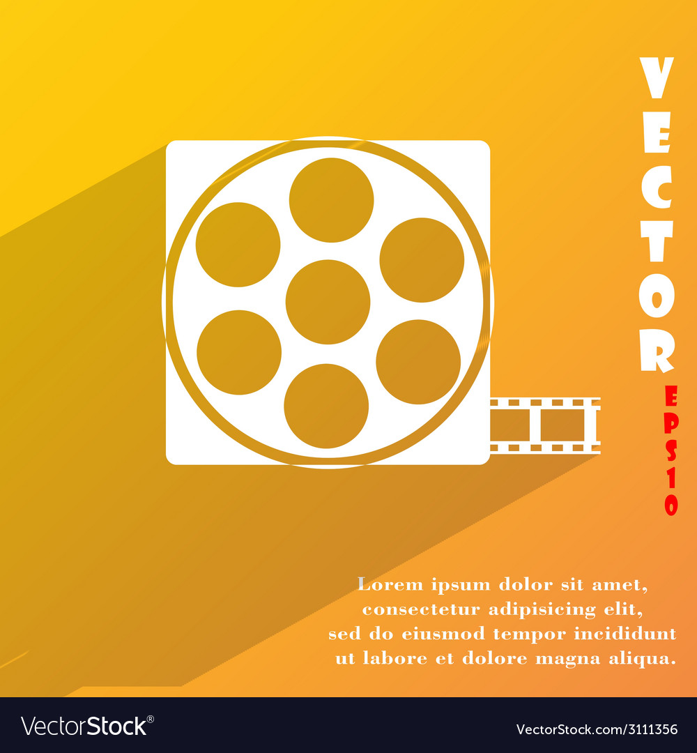 Video icon symbol flat modern web design with long vector | Price: 1 Credit (USD $1)