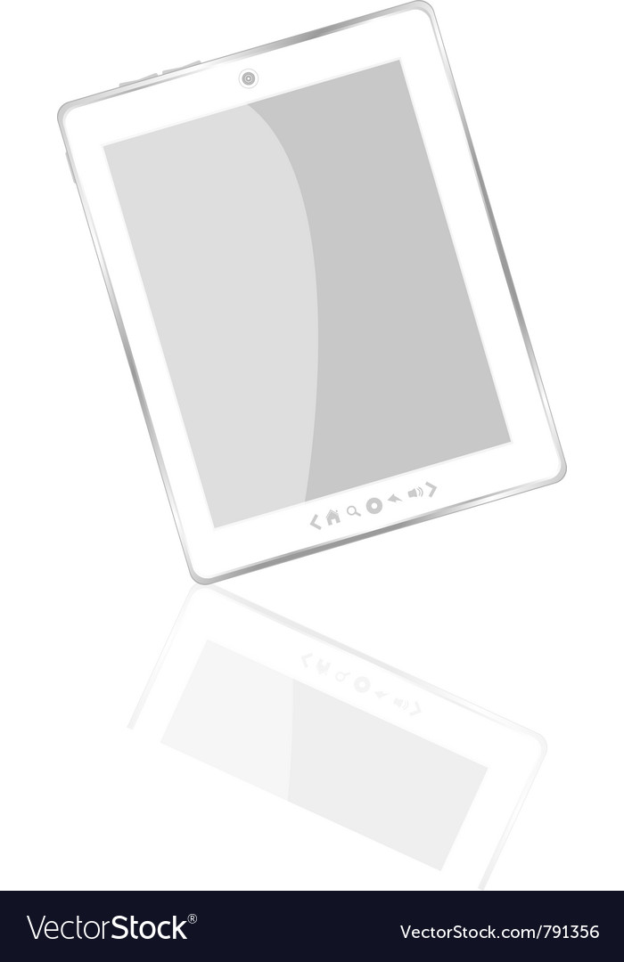 White abstract tablet pc vector | Price: 1 Credit (USD $1)