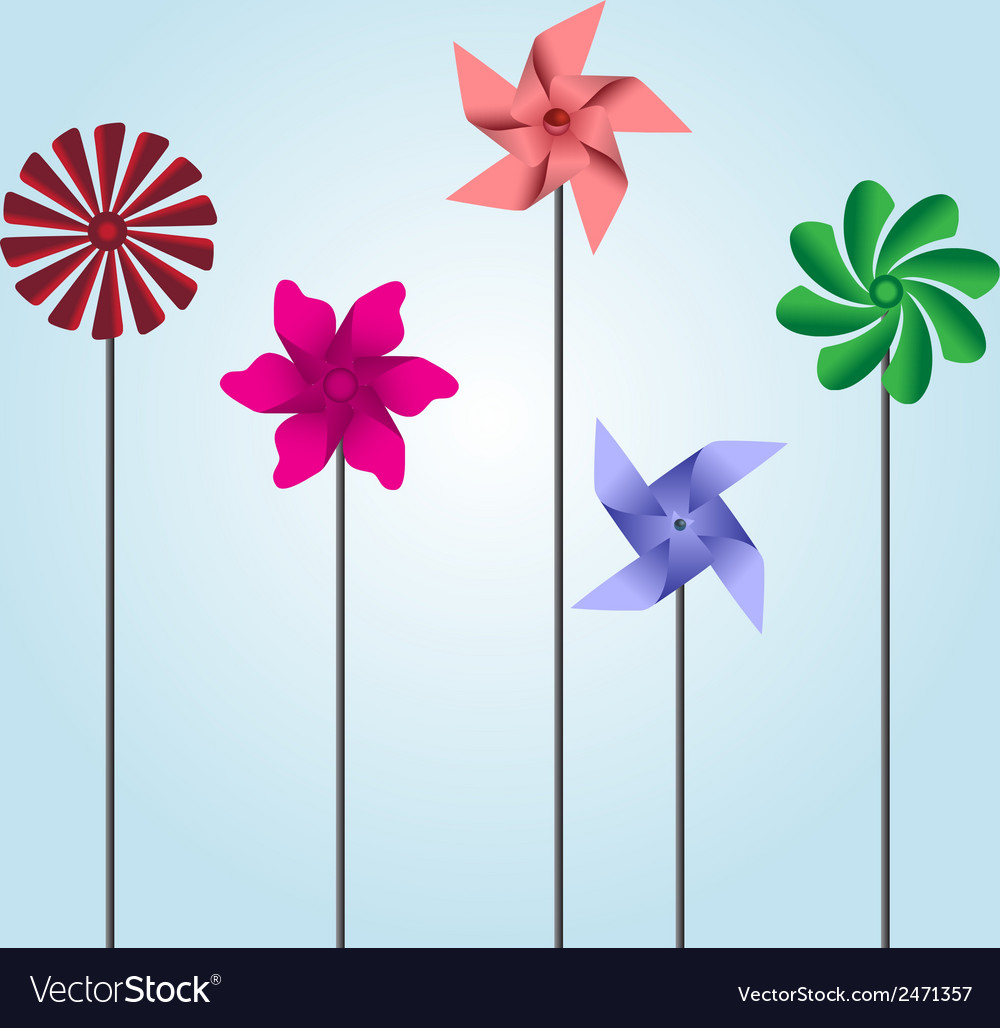 Colorful pinwheel toys eps10 vector | Price: 1 Credit (USD $1)