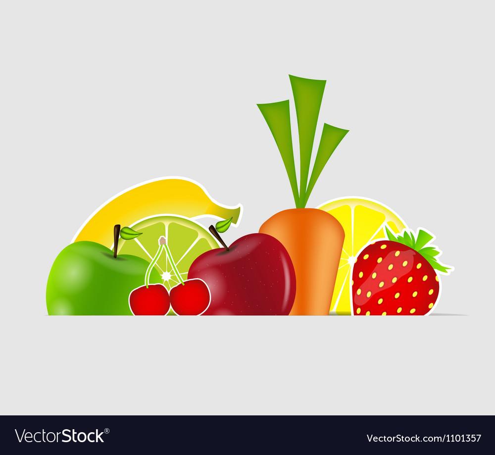 Fresh fruits vector | Price: 1 Credit (USD $1)