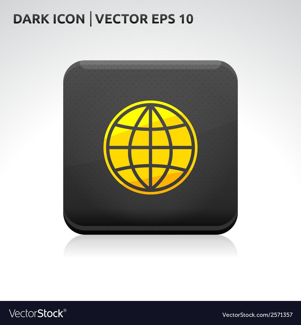 Globe map world icon gold vector   Price: 1 Credit (USD $1)