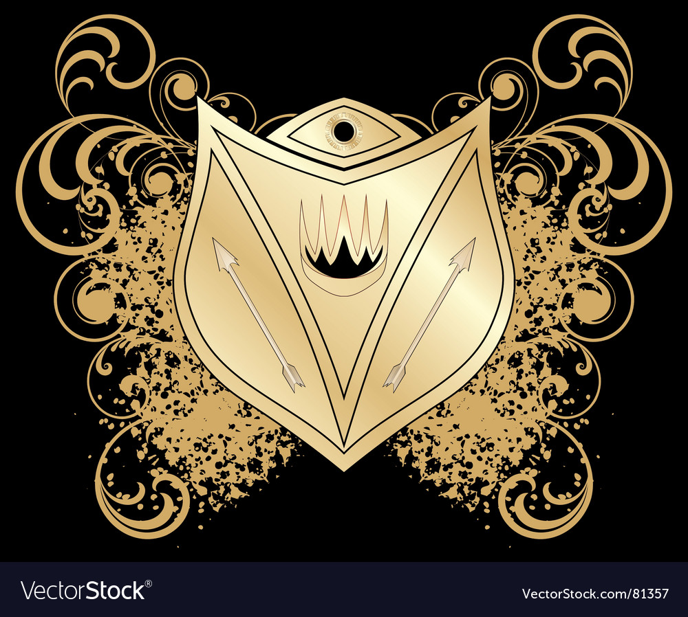 Heraldic blazon vector | Price: 1 Credit (USD $1)