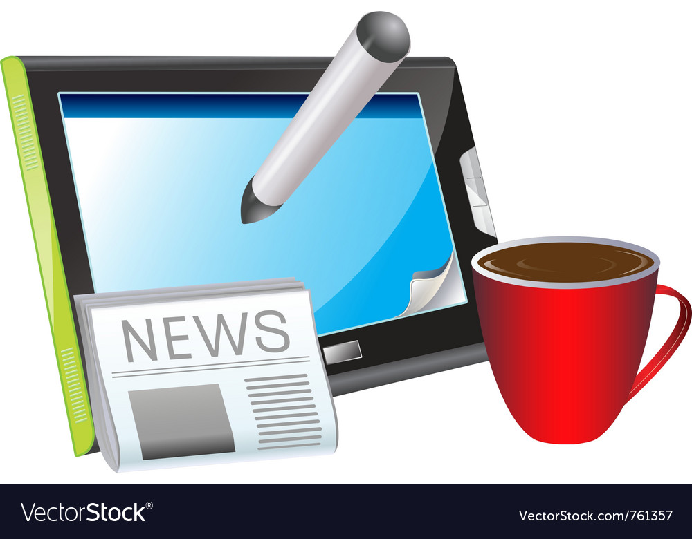 Morning news vector | Price: 3 Credit (USD $3)
