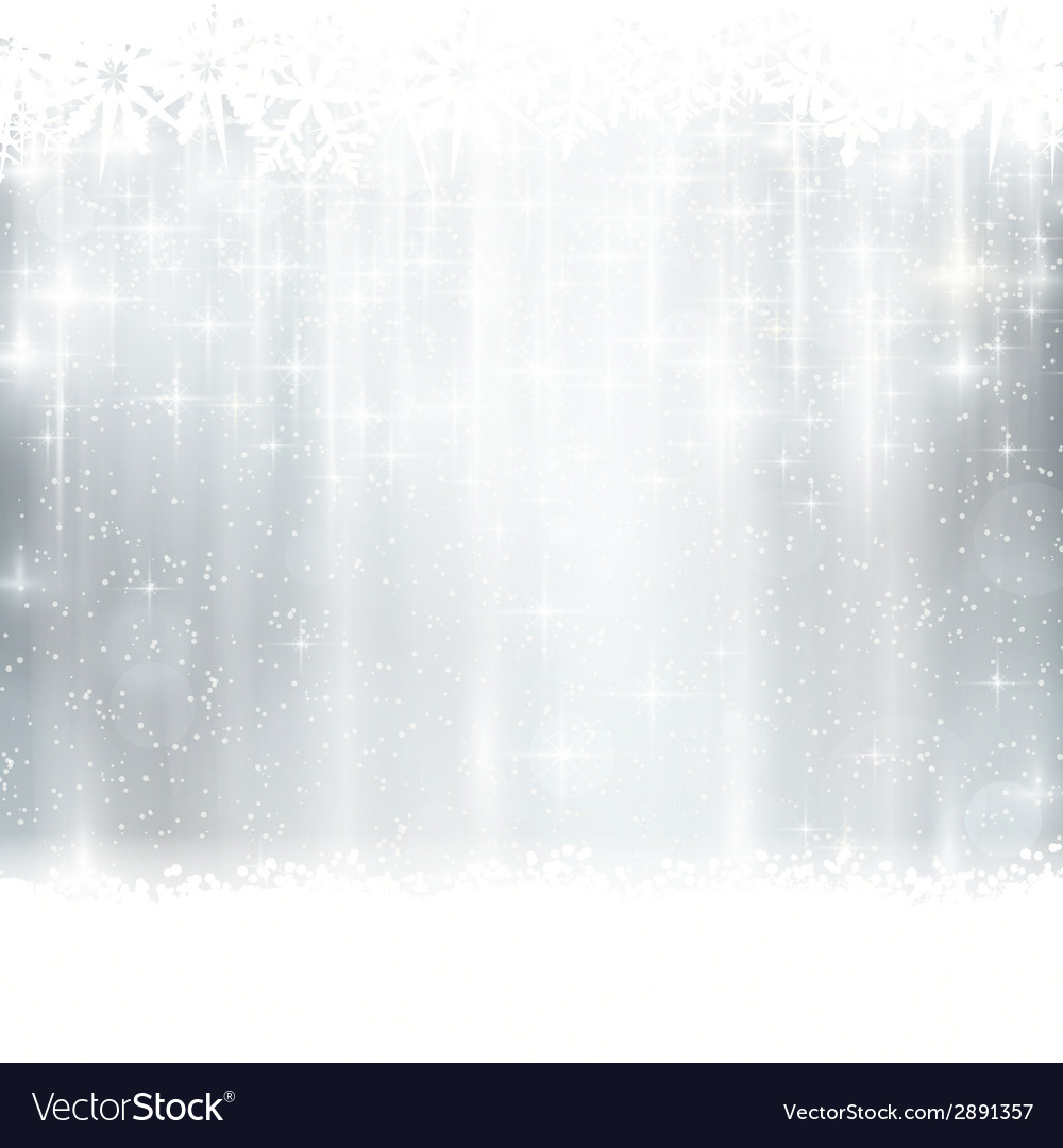 Silver winter christmas background vector | Price: 1 Credit (USD $1)