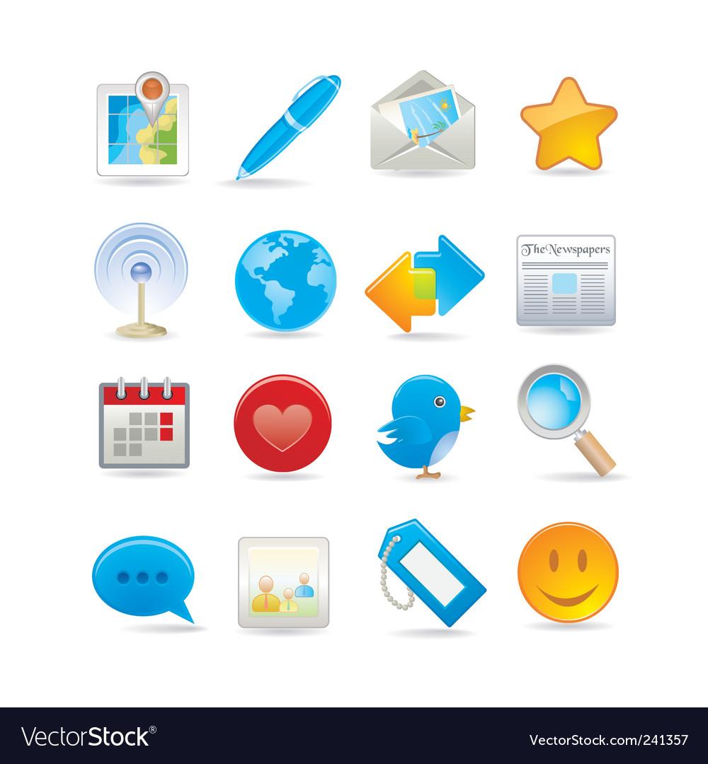 Social media set vector | Price: 3 Credit (USD $3)