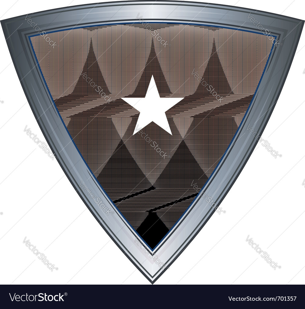 Steel shield with flag galmudug vector | Price: 1 Credit (USD $1)