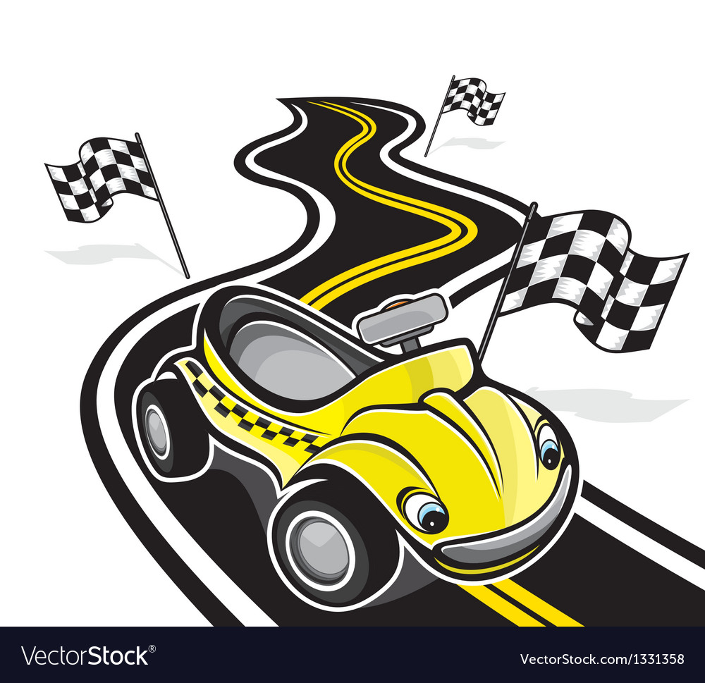 Cute race car vector | Price: 1 Credit (USD $1)