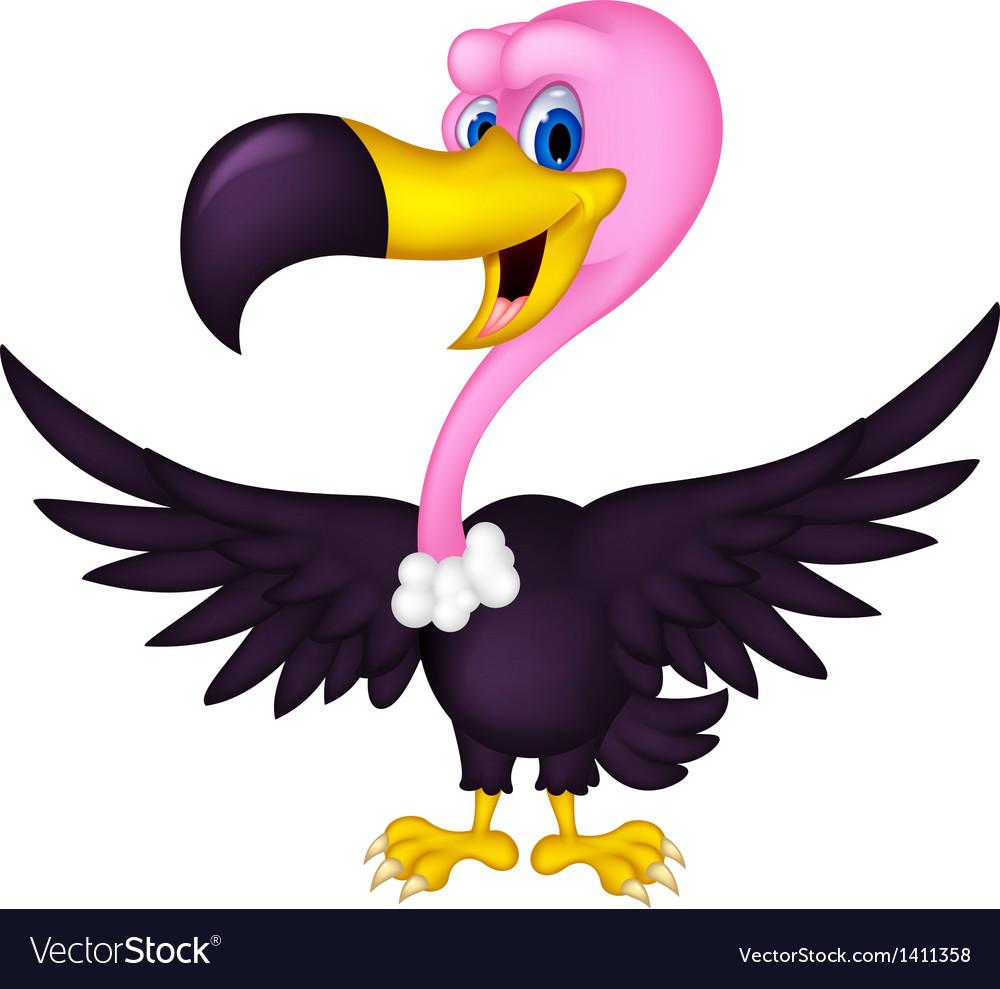 Cute vulture cartoon vector | Price: 1 Credit (USD $1)