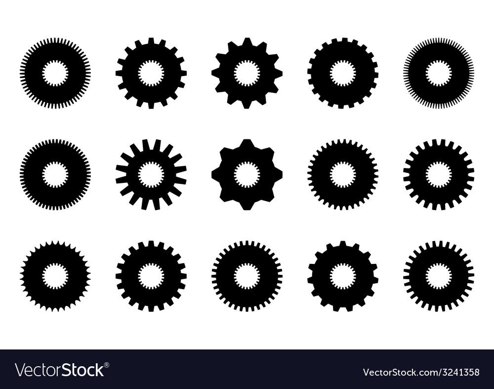 Gear collection vector | Price: 1 Credit (USD $1)