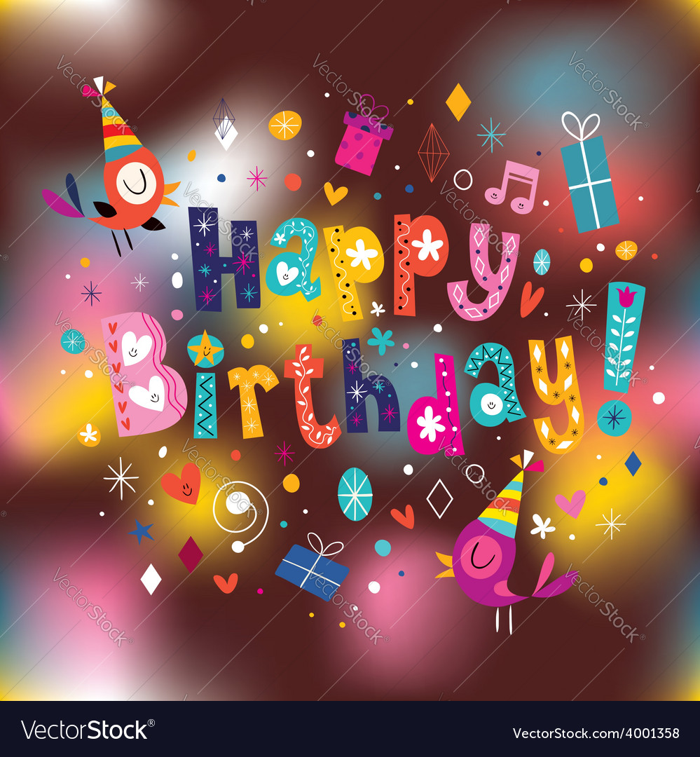 Happy birthday card 13 vector | Price: 1 Credit (USD $1)