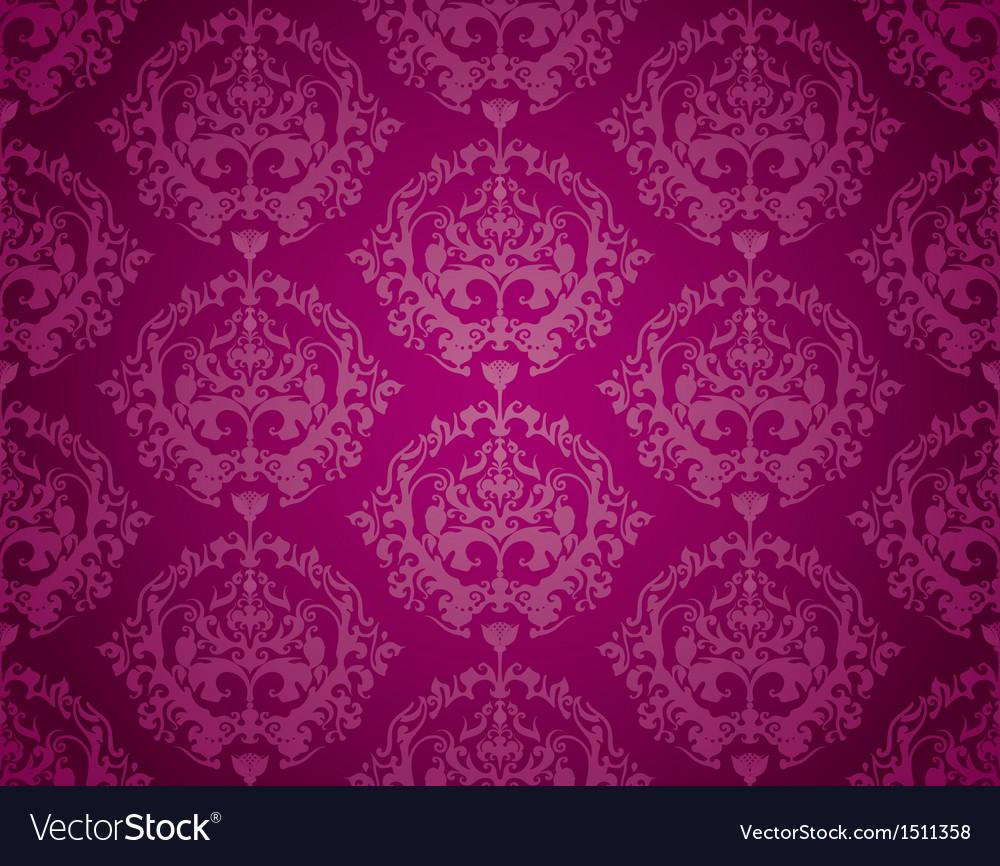 Seamless wallpaper pattern purple vector