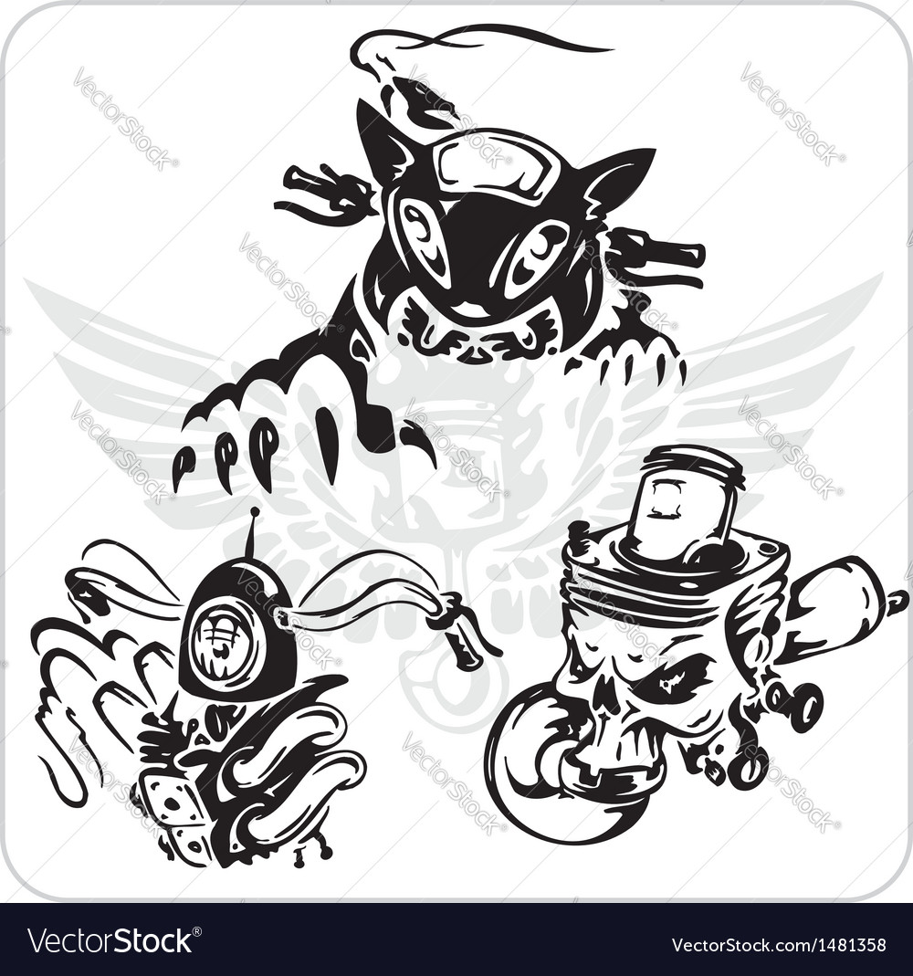 Set - bike symbol vector | Price: 1 Credit (USD $1)