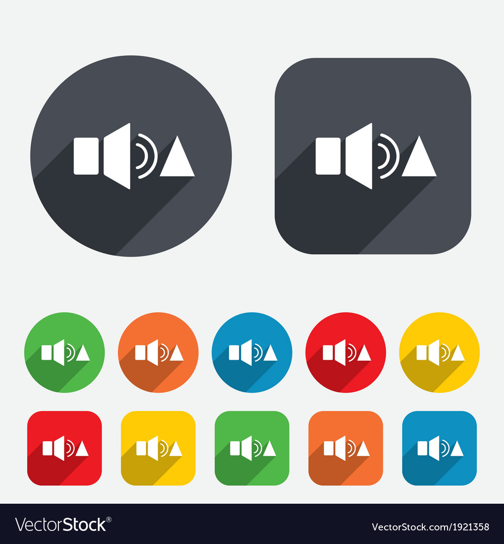 Speaker volume louder sign icon sound symbol vector | Price: 1 Credit (USD $1)