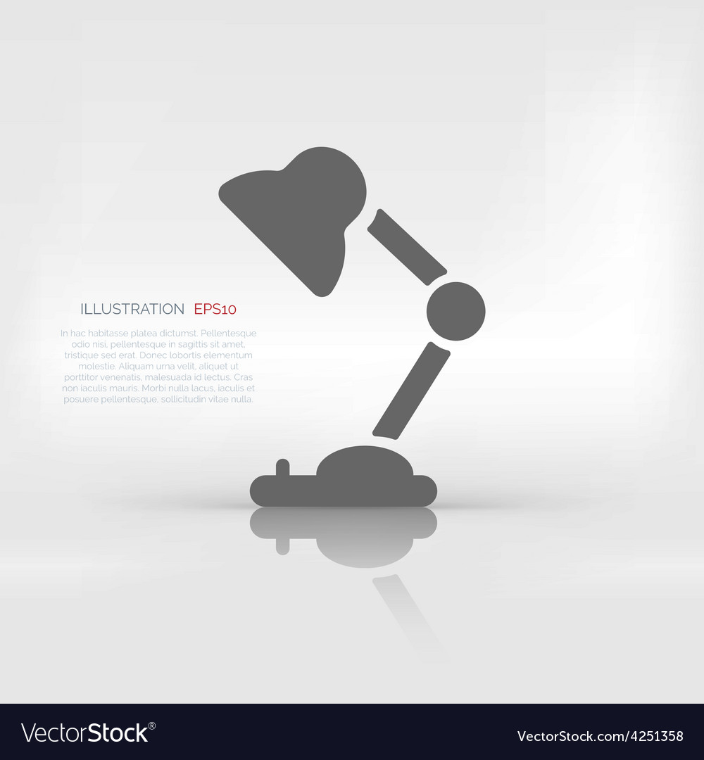 Table lamp icon vector | Price: 1 Credit (USD $1)