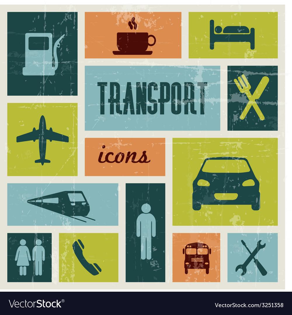 Vintage transport poster vector | Price: 1 Credit (USD $1)