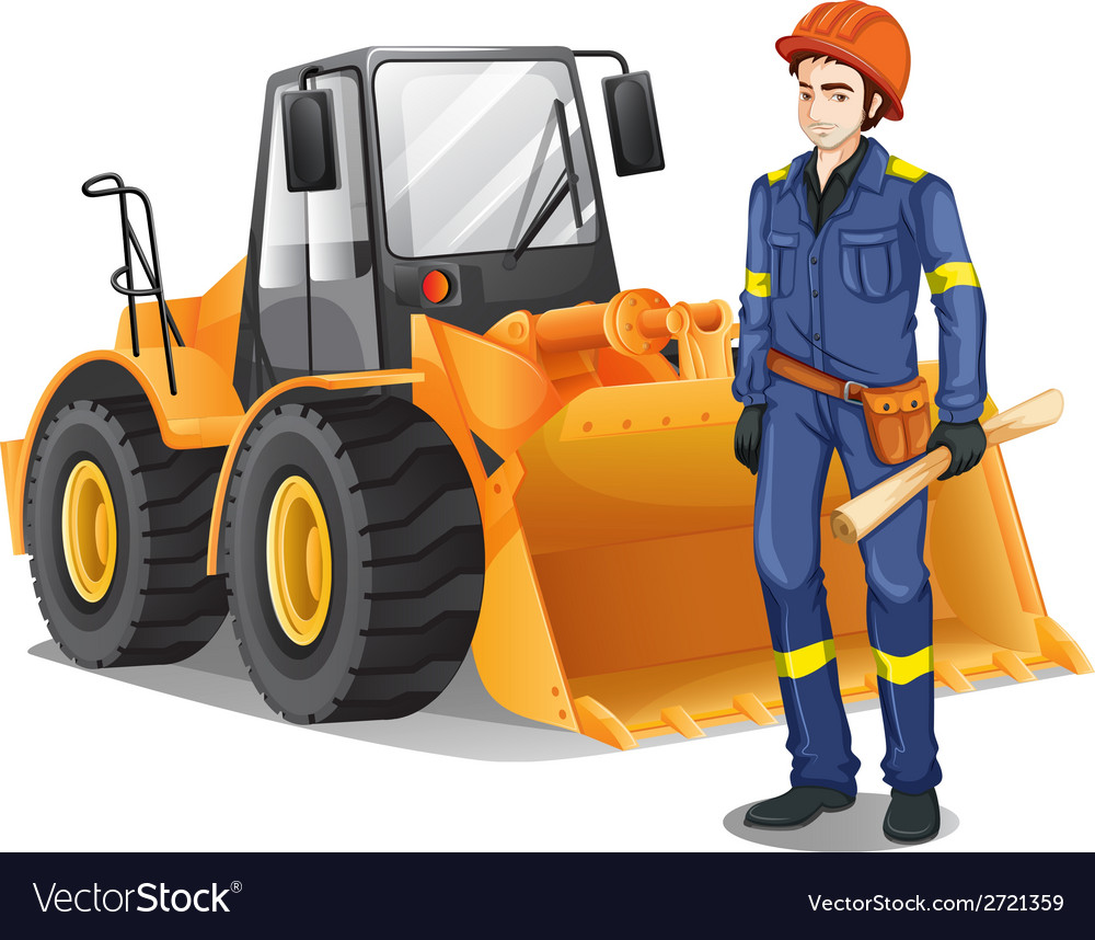 A construction engineer vector | Price: 1 Credit (USD $1)