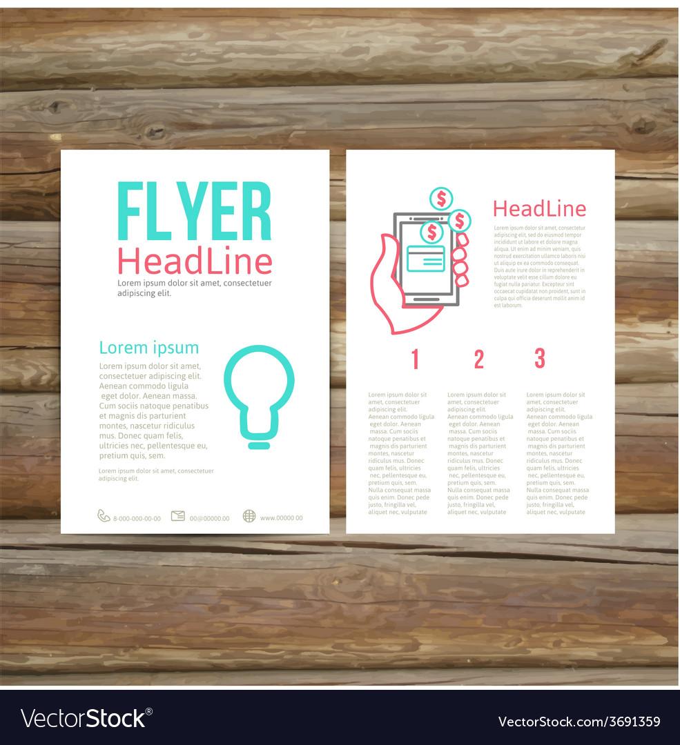 Abstract brochure flyer design  online payment vector | Price: 1 Credit (USD $1)