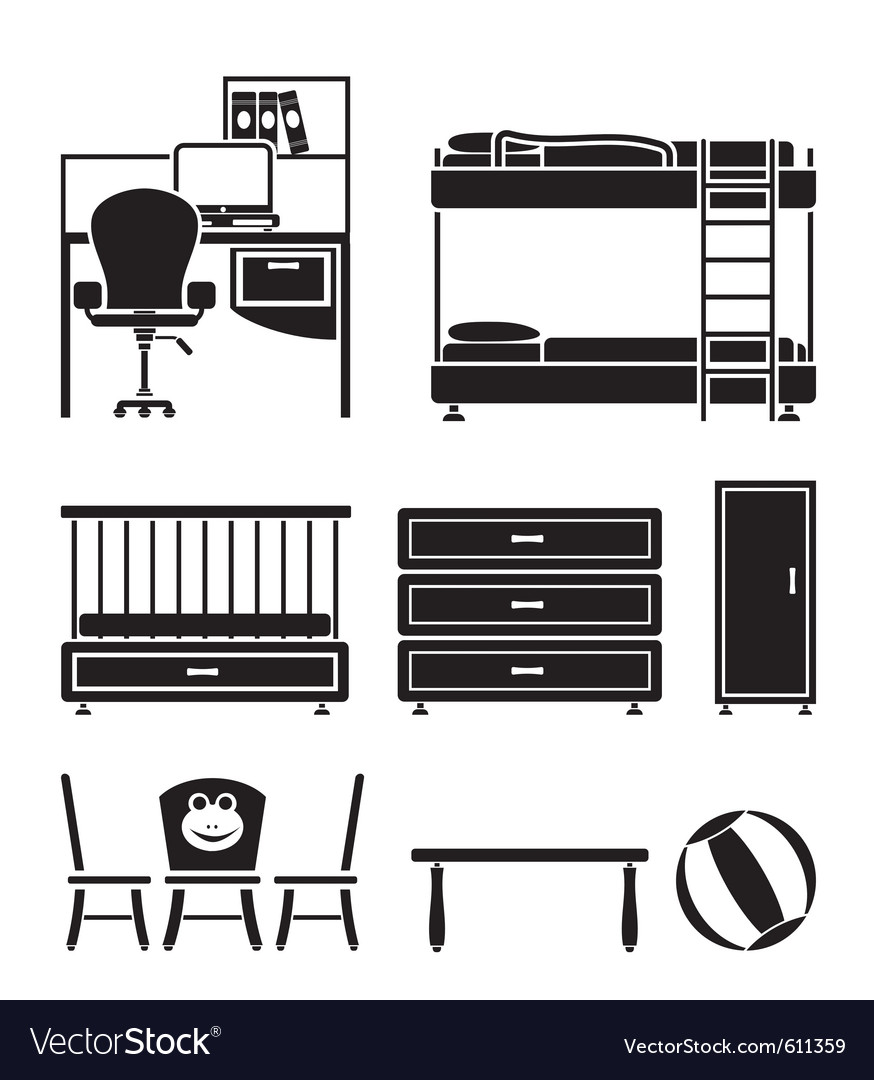 Children furniture vector | Price: 1 Credit (USD $1)
