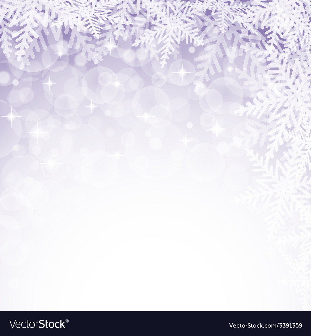 Christmas snowflakes on violet background vector | Price: 1 Credit (USD $1)