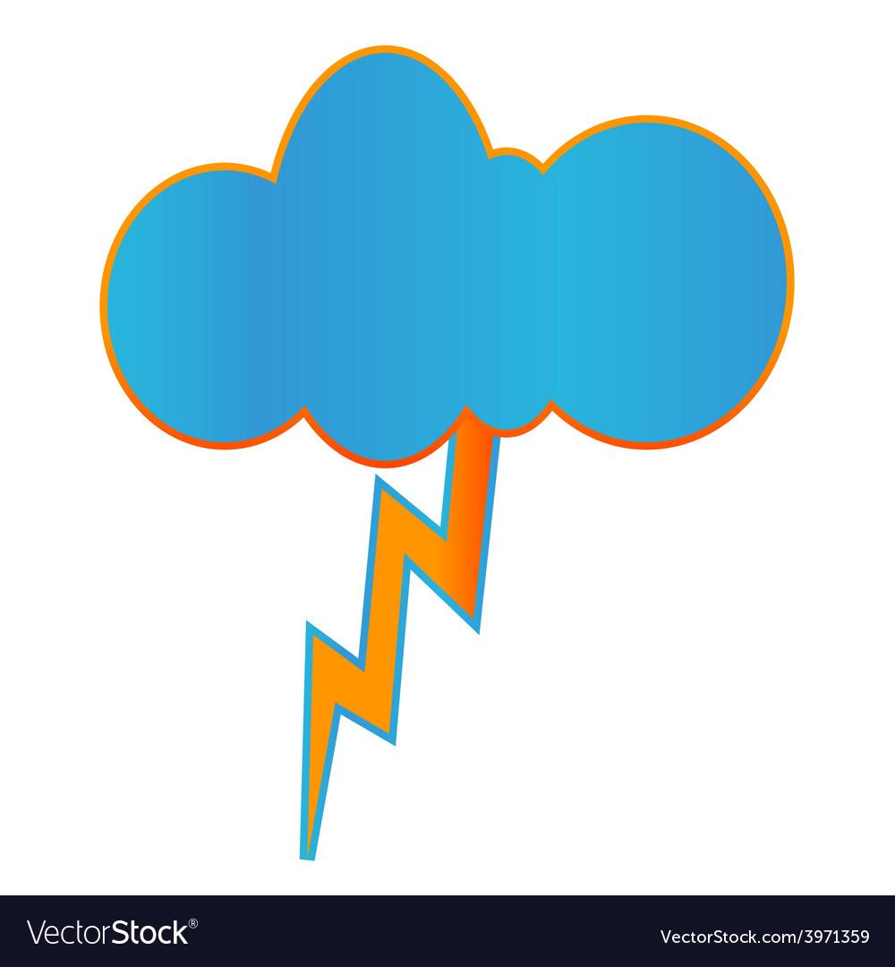 Creative geometric thunderstorm icon vector | Price: 1 Credit (USD $1)