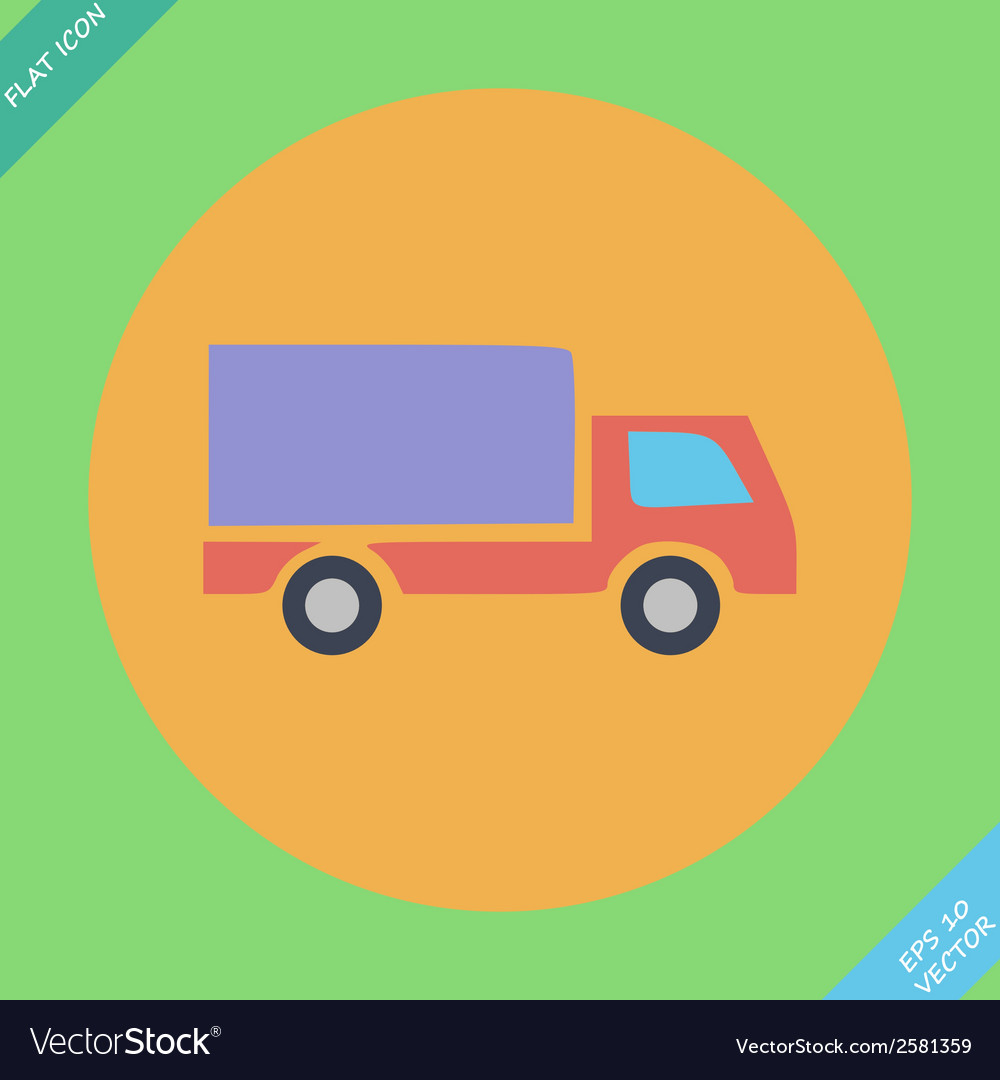 Delivery truck - icon vector | Price: 1 Credit (USD $1)