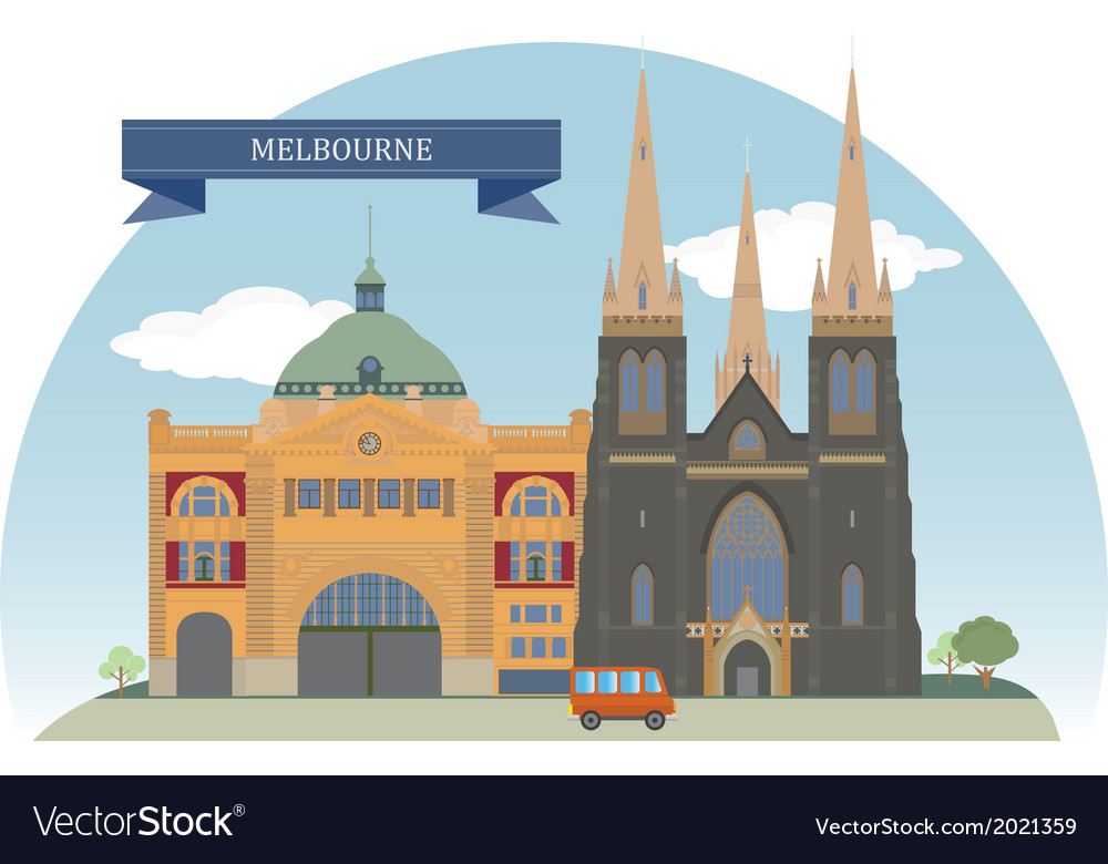 Melbourne vector | Price: 1 Credit (USD $1)