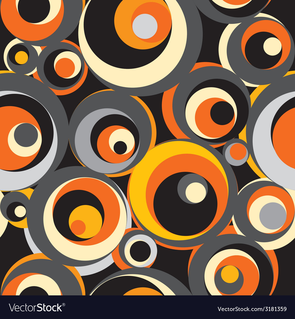 Orange retro pattern of circles vector | Price: 1 Credit (USD $1)