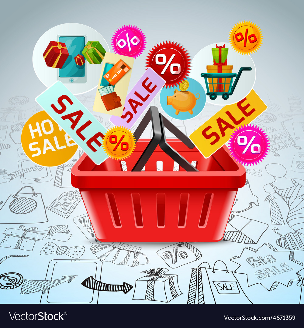 Shopping sale concept vector | Price: 1 Credit (USD $1)